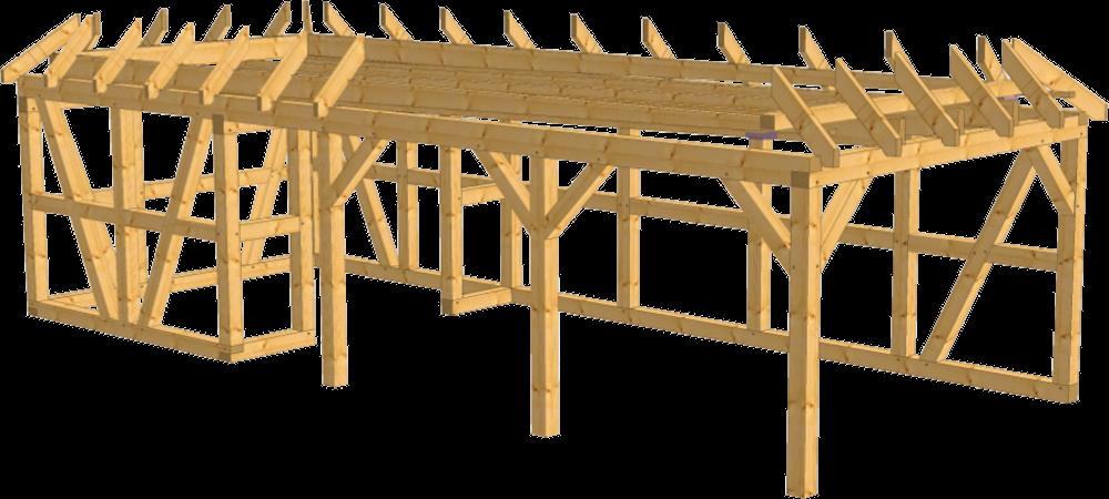 Walmdach carport herne als bausatz bei beelitz