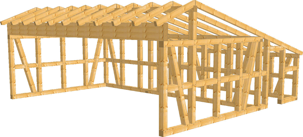fachwerk remise ulm als bausatz carport beelitz. Black Bedroom Furniture Sets. Home Design Ideas